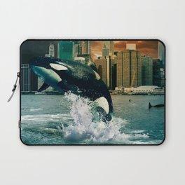Wild City Whale Laptop Sleeve