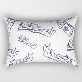Pattern-whale Rectangular Pillow