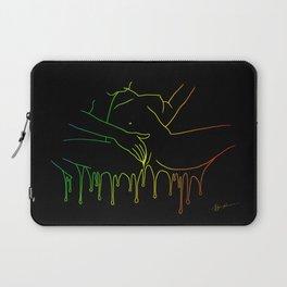 Colorful Climax line rainbow Laptop Sleeve