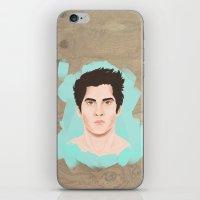 stiles stilinski iPhone & iPod Skins featuring Stiles Stilinski by gentlederek