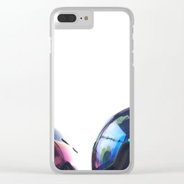Going up - Goggles reflecting gondola Clear iPhone Case