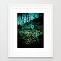 snake Framed Art Prints featuring Snake by Terrestre