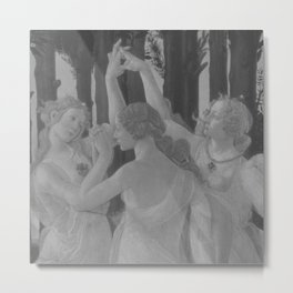 Black White Primavera Metal Print