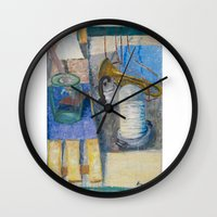 trumpet Wall Clocks featuring trumpet by Joasiekk