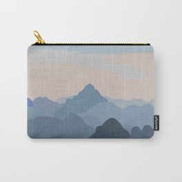 Pastel Sunset over Blue Mountains Carry-All Pouch