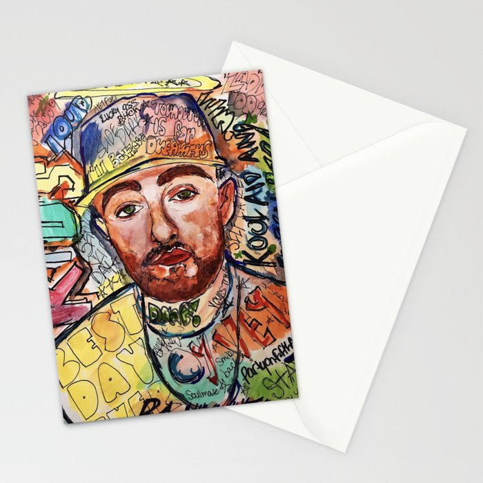 KIDS,colourful,colorful,poster,wall art, fan art,music,hiphop,rap,rip,rapper,legend,best day ever Stationery Cards