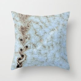 Karman Vortices above Alexander Selkirk Island Throw Pillow