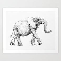 elephant_003 Art Print