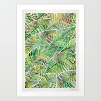 tropical Art Prints featuring Tropical Green by Cat Coquillette