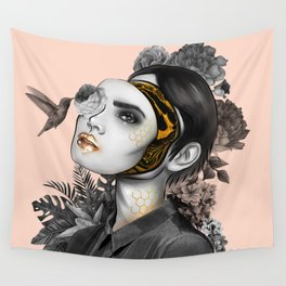 Behind the mask Wall Tapestry