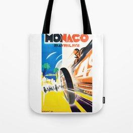 Grand Prix Monaco, 1931, vintage poster Tote Bag