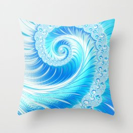 Frozen Vortex Throw Pillow