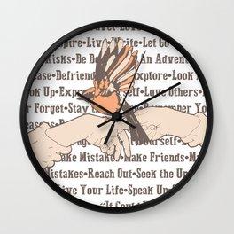 Bird On Hand Wall Clock