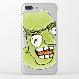 Mad monster man with Clear iPhone Case
