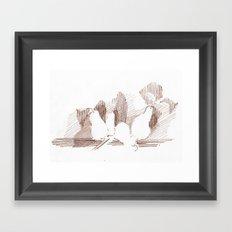 Shadows Sepia Framed Art Print