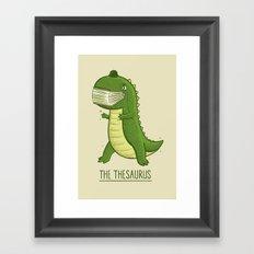 The Thesaurus Framed Art Print