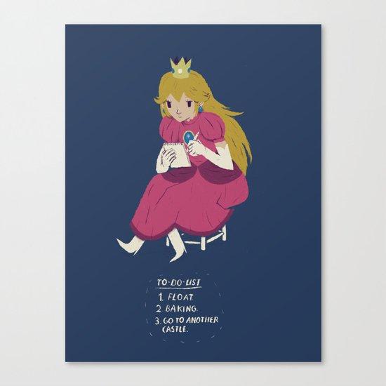 peach t0-do-list Canvas Print