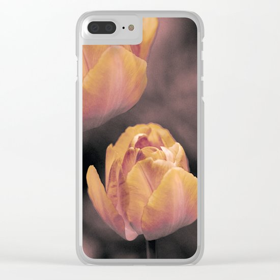 Vintage tulips(3) Clear iPhone Case
