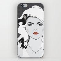 blondie iPhone & iPod Skins featuring blondie by Tara Durrant Designs