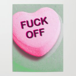 Heart Series Love Candy Hearts Poster
