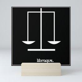 Libra ~ Libraque ~ Zodiac series Mini Art Print