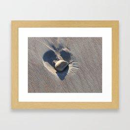 Sand Love Framed Art Print