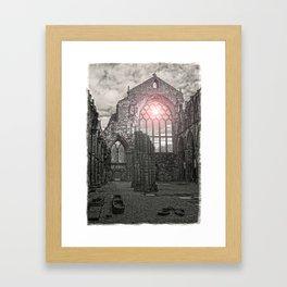 Holyrood Abbey Ruins Framed Art Print
