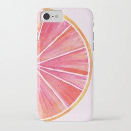 Sunny Grapefruit Watercolor iPhone Case
