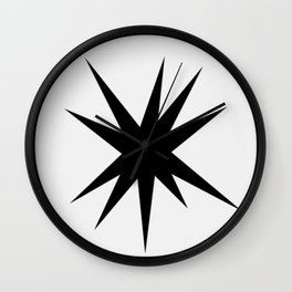 10 Point Star Wall Clock