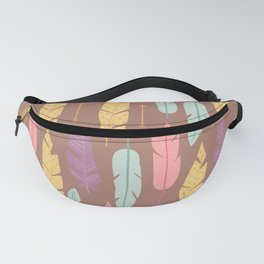 Colorful Feather Pattern Fanny Pack