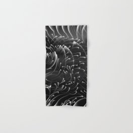 Sea Swirls, Black and White Hand & Bath Towel