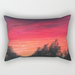 """""""Purple Sky Pines"""" Rectangular Pillow"""