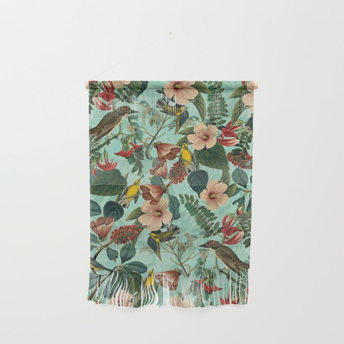FLORAL AND BIRDS XIII Wall Hanging