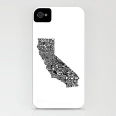 Typographic California iPhone (4, 4s) Slim Case