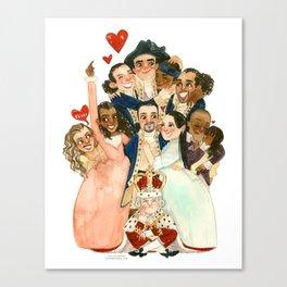 Hamilton Hug Canvas Print
