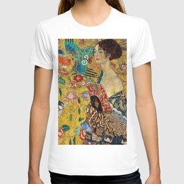 Gustav Klimt Lady With Fan T-shirt