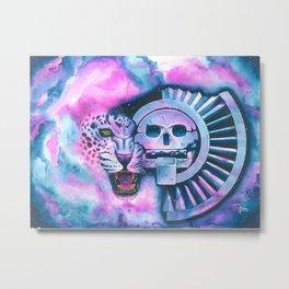 Jaguar & Mictlantecuhtli Metal Print