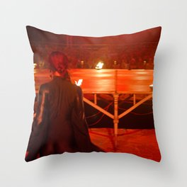 Dancer in black in the red Throw Pillow