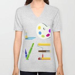 Art Love Tee, Artist product, Paint Tee, Teaching prints Unisex V-Neck