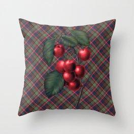 Luscious Red Cherries Throw Pillow