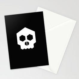 hex geometric halloween skull Stationery Cards