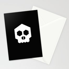 hex geometric halloween skull Stationery Cards