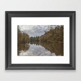 Autumn Lake Reflections Framed Art Print