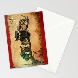 Midnight Owls Stationery Cards