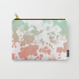 Abstract minimal ombre fade painted trendy modern color palette Carry-All Pouch