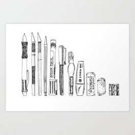 Pencil Case 2 - Artschool Art Print