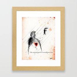 Farewell my Darling! Framed Art Print