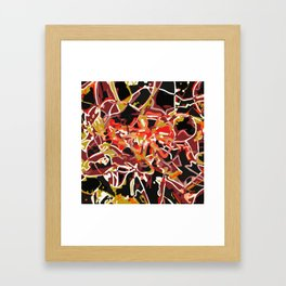 light trails Framed Art Print
