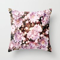 rose gold Throw Pillows featuring Rose And Gold Floral by J&C Creations