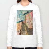 transparent Long Sleeve T-shirts featuring TRANSPARENT WALLS by Matt Schiermeier